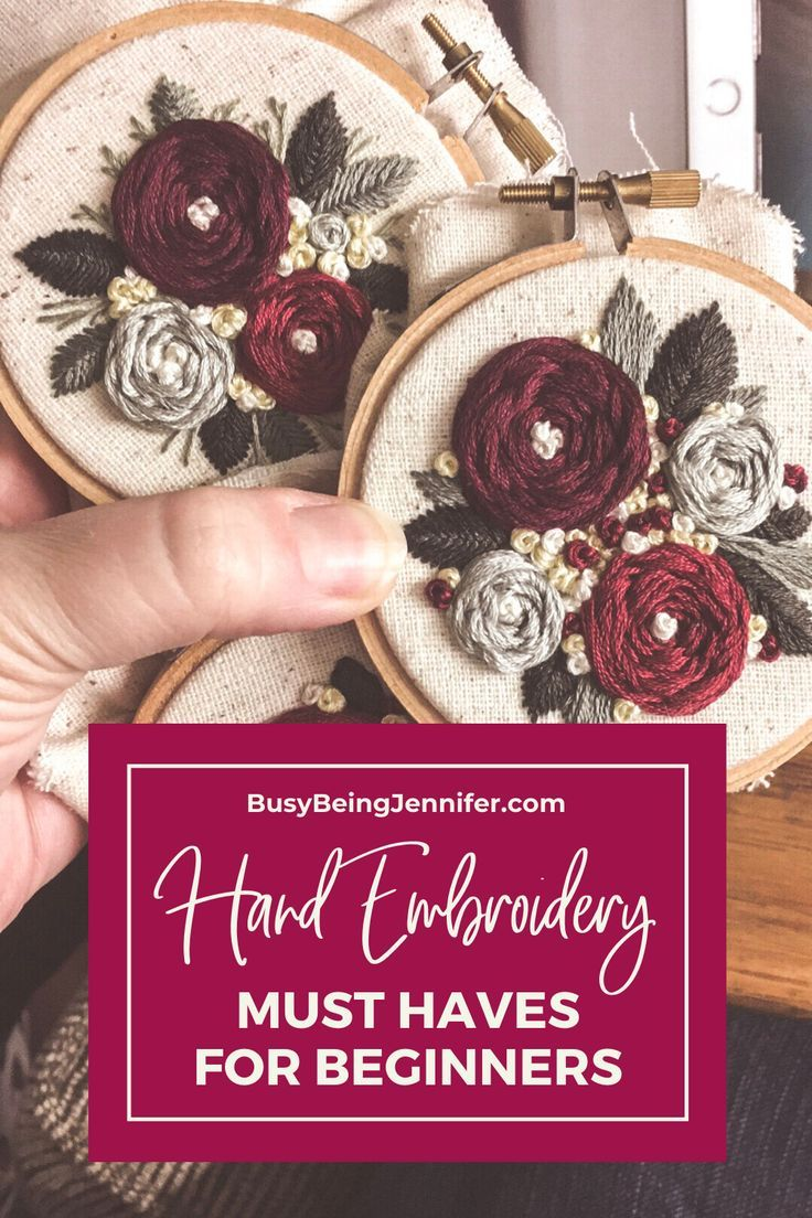 Hand Embroidery Must Haves for Beginners! in 2020 | Hand ...
