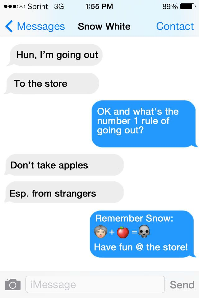 Elegant Disney Text Messages | Snow White And Prince Charming Text Message1