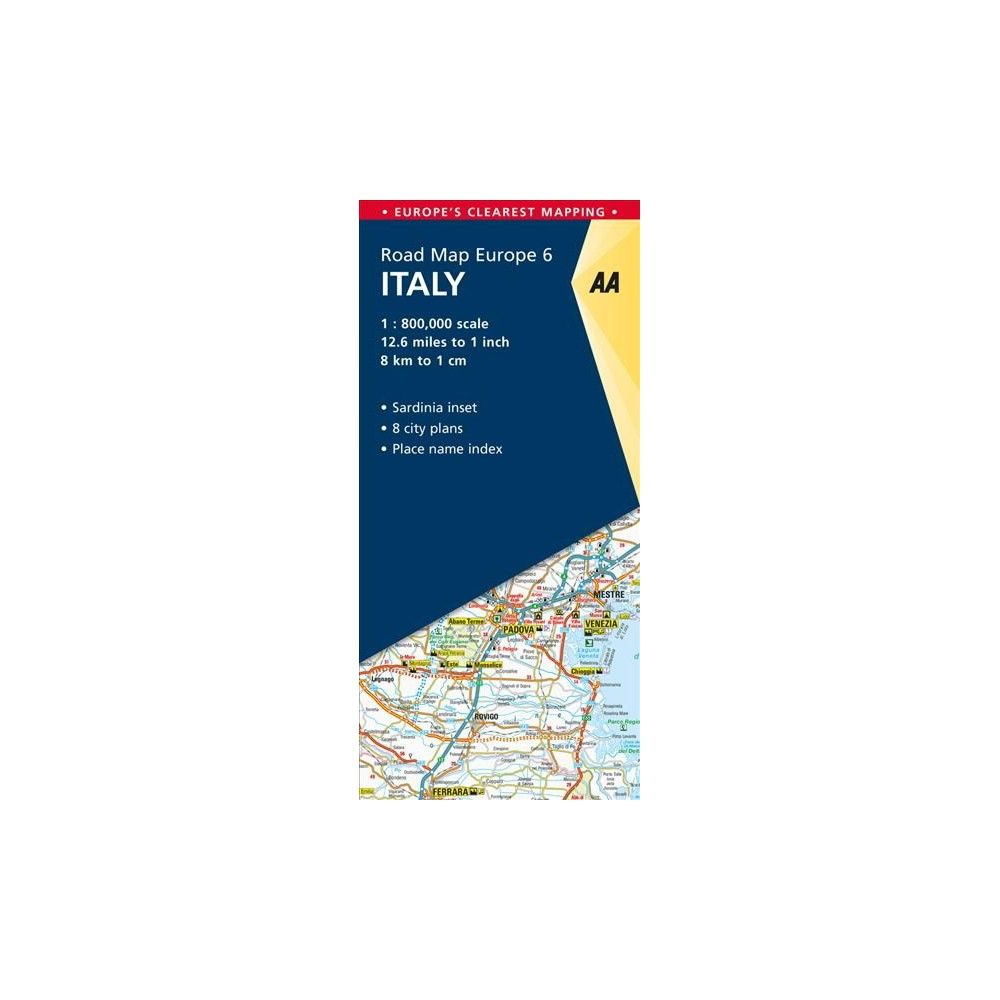 AA Road Map Europe Italy - (AA Road Map Europe) (Paperback ...