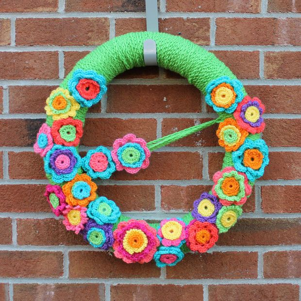 Photo of Crochet flower wreath!