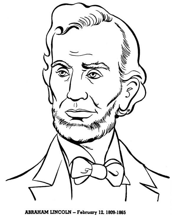 Abraham Lincoln A Head Figure Of Abraham Lincoln Coloring Page