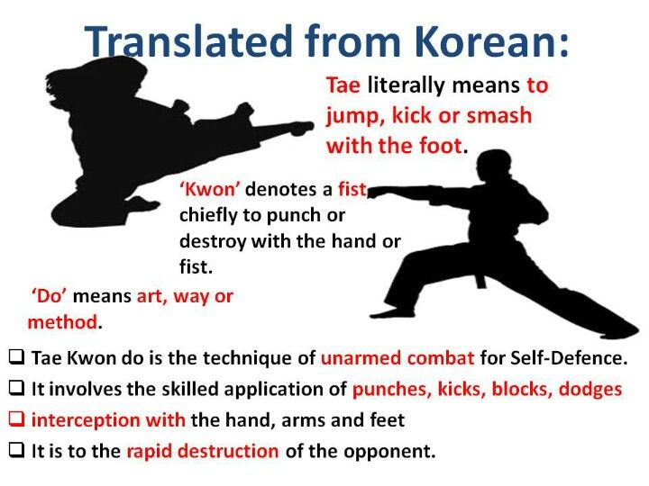 The Definition Of Tae Kwon Do Visit Www Budospace Com For