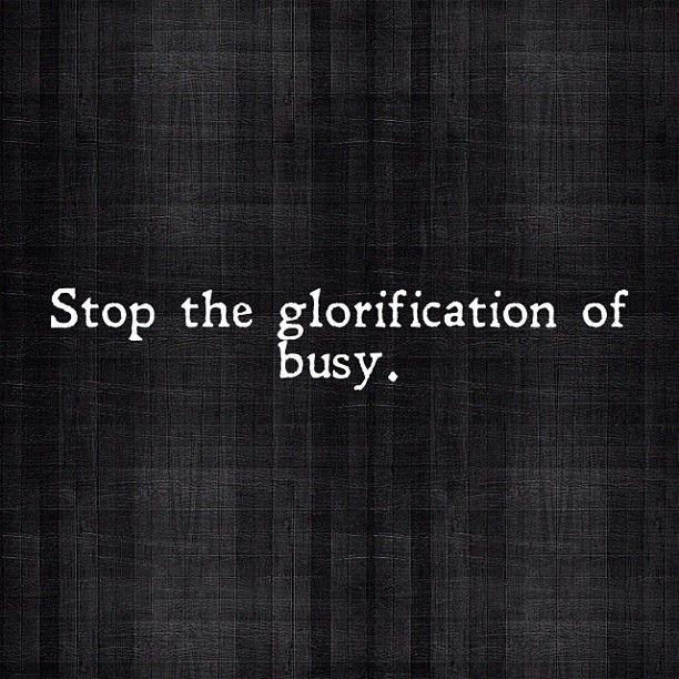 Stop the glorification of