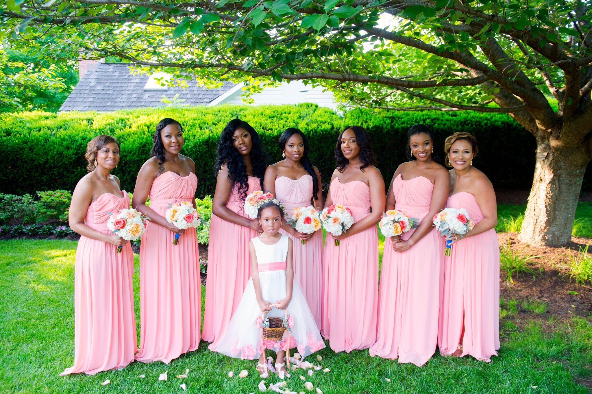 Blush bridesmaid dresses | Dana + Sean\'s Wedding at The Antrium ...