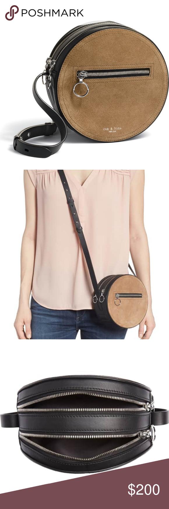 7127fbee4 Rag & Bone Circle Crossbody Bag 💕 Like new Rag and Bone suede and  leather