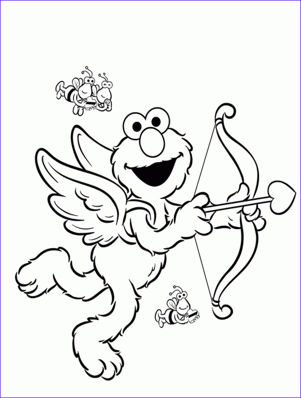 13 Beautiful Gallery Of Elmo Coloring Picture in 2020