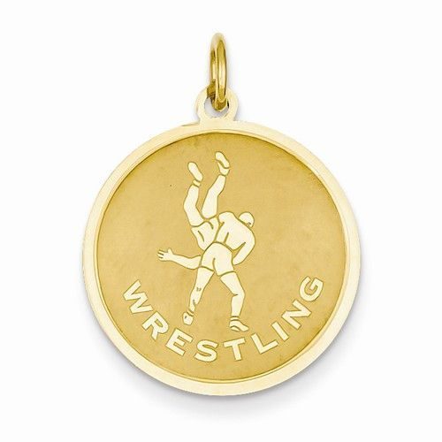 14k yellow gold polished wrestling pendant products 14k yellow gold polished wrestling pendant aloadofball Image collections