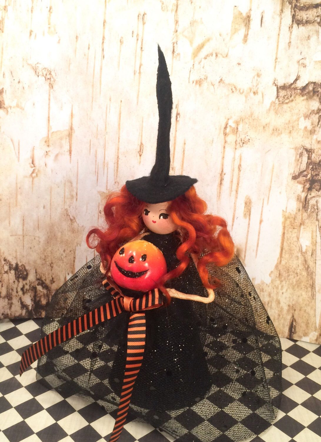 Pin by Toni Kelly on Fall Tree toppers, Dolls, Halloween