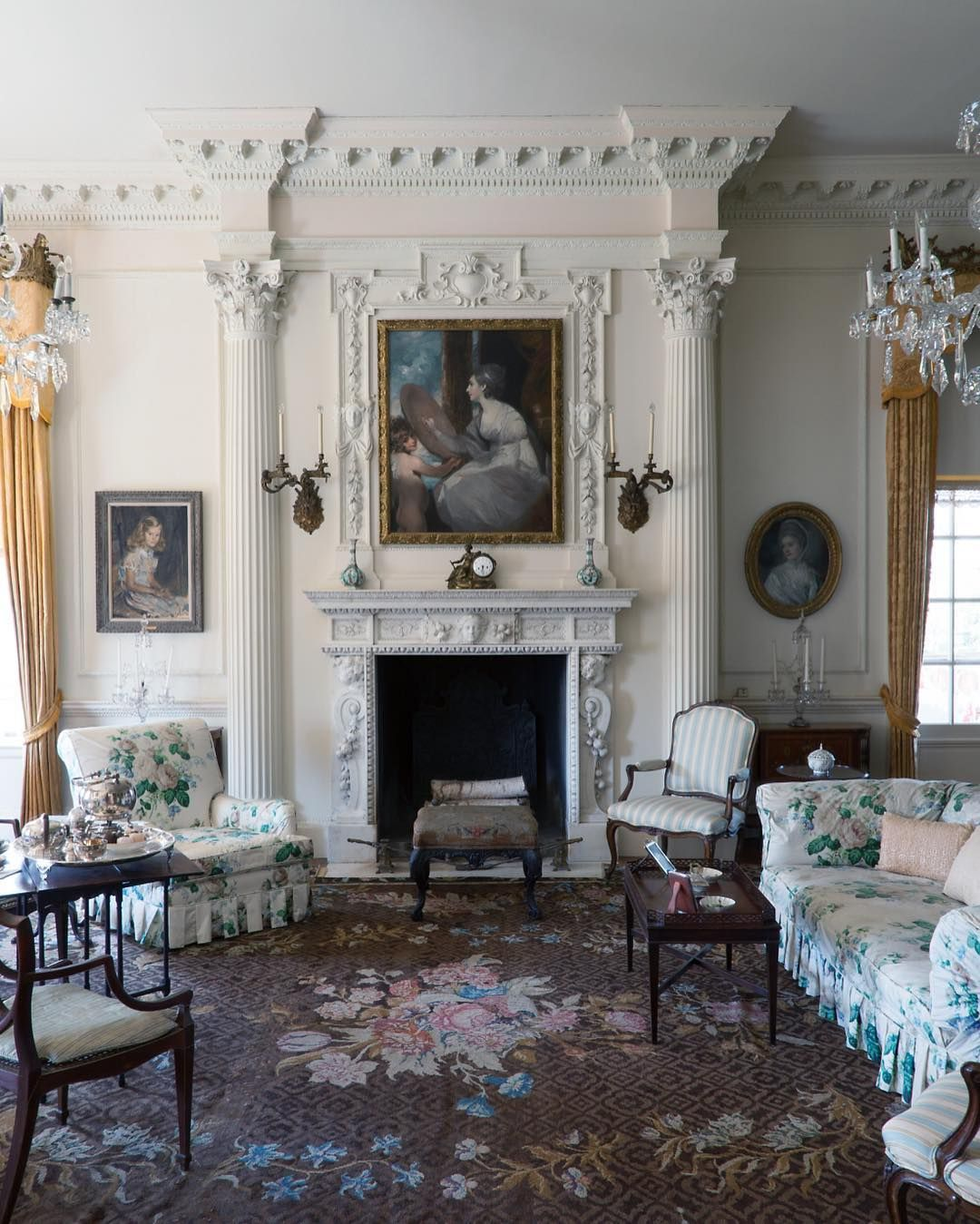 Old Westbury Gardens Interior: Pin By G L On Home Designs In 2019