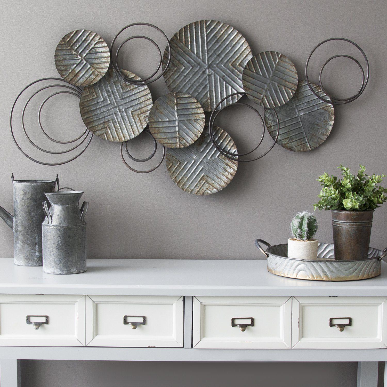 Galvanized Plates Wall Decor Plates On Wall Plate Wall Decor Metal Wall Decor