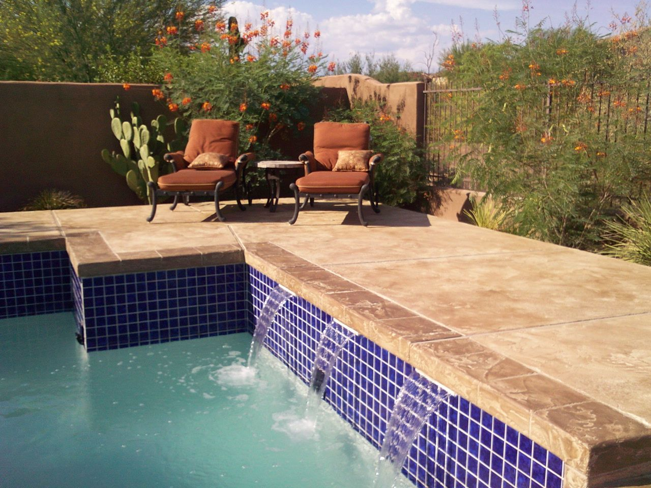 Decorative Patio Tiles Magnificent Acid Stain Concrete Pool Deck  Google Search  Home Ideas 2018
