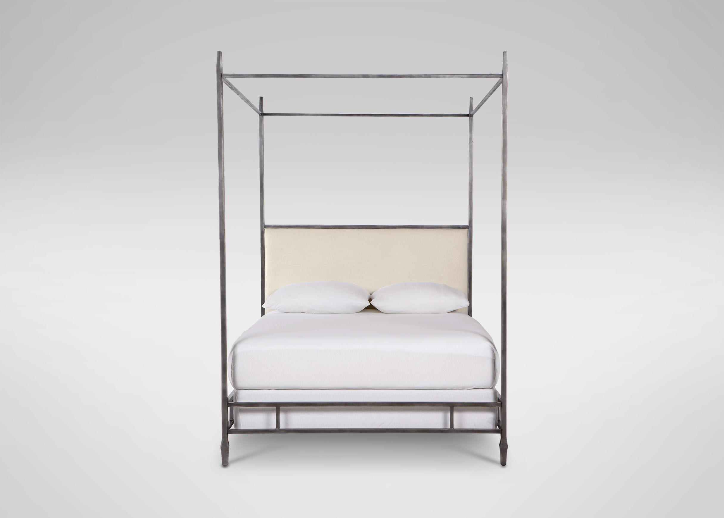 Lincoln upholstered poster bed ethan allen us house pinterest