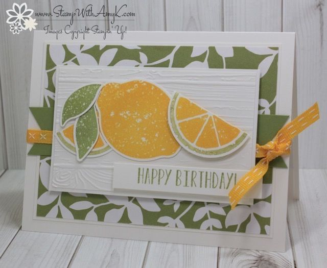 I used the Stampin' Up! Lemon Zest stamp set bundle to create my card for the Fab Friday sketchchallenge this week.
