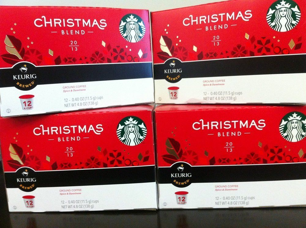Starbucks 2012 Christmas Blend Kcups 4 Boxes of 12ct