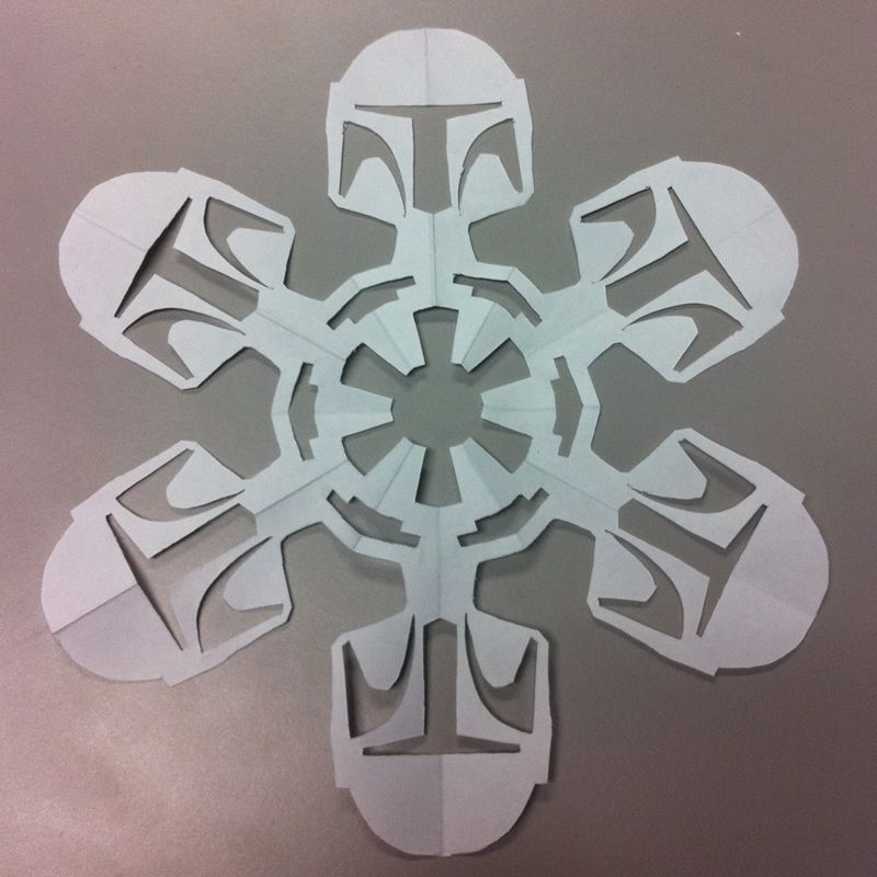 Sawyer would LOVE this...templates to make Star Wars snowflakes ...