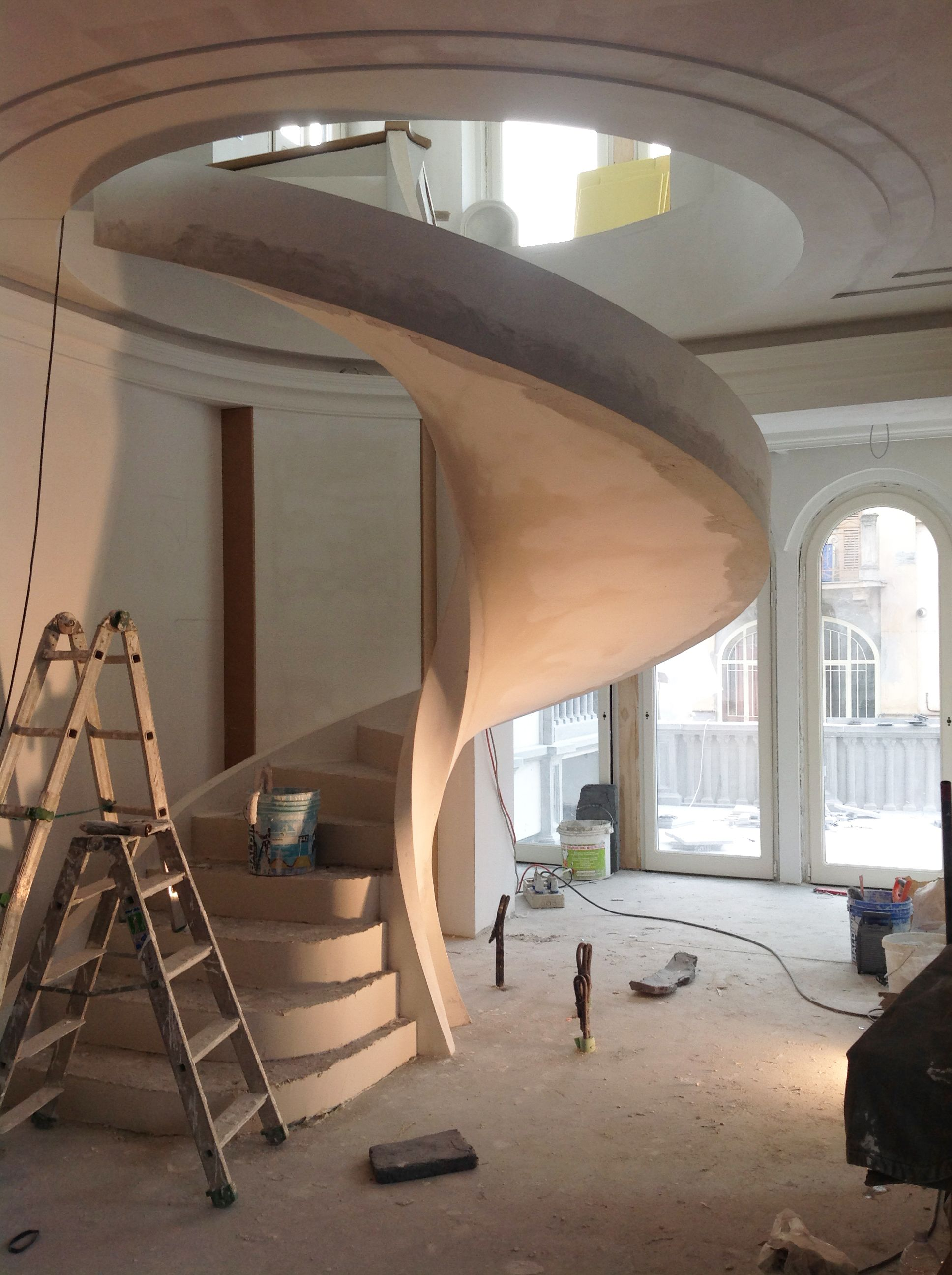 A winding armony.   #Stradivari #Design #architecture #stairs #workinprogress