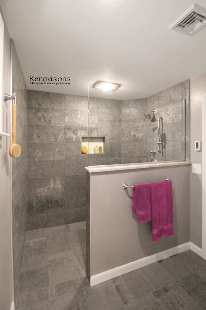 37 What To Expect From Walk In Shower No Door Small Pony Wall 28 Inspirational Wal Bathroom Remodel Shower Basement Bathroom Remodeling Bathroom Floor Plans