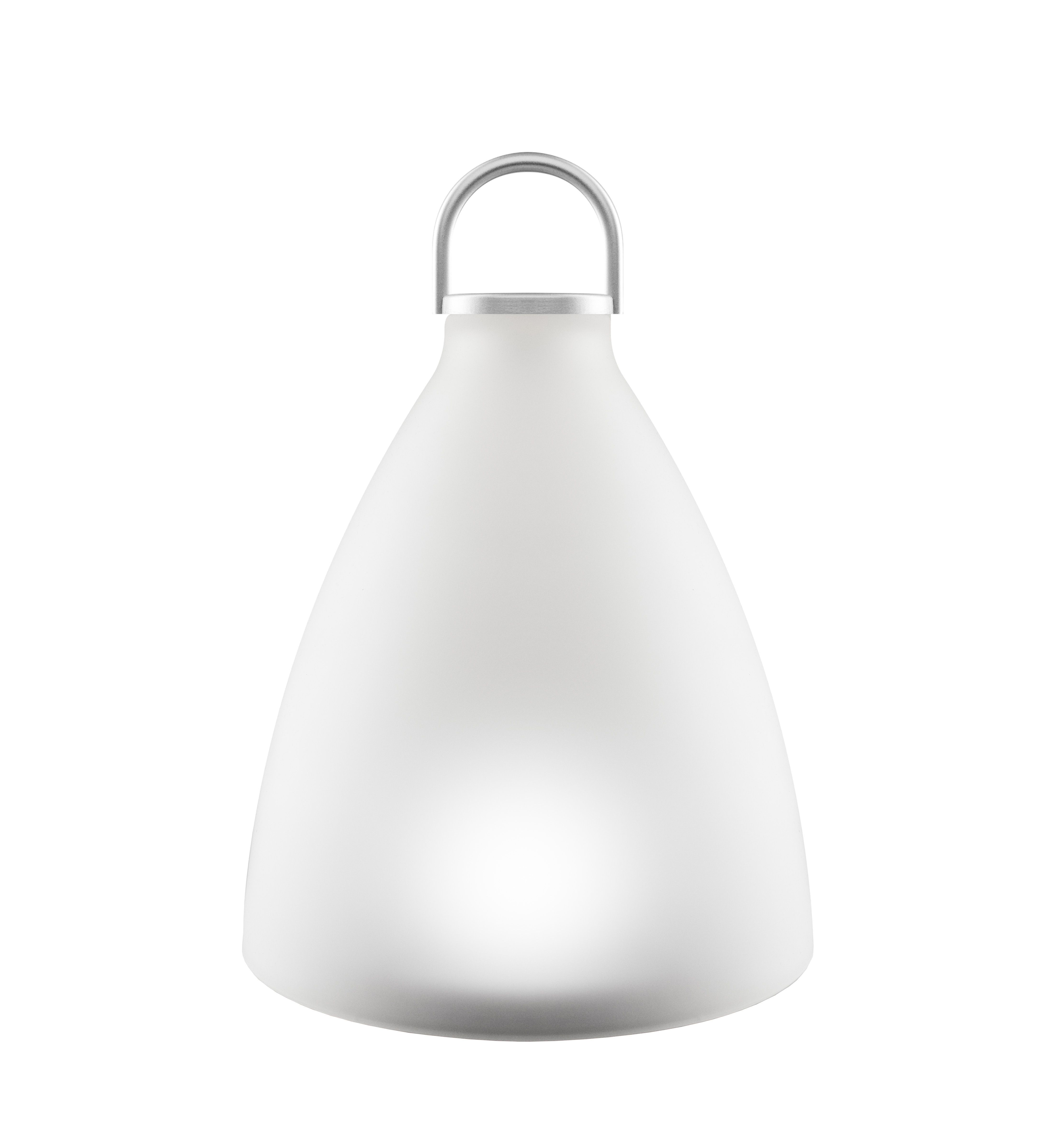 Solar Lamp Sunlight Bell Large By Eva Solo White Made In Design Uk Solar Lamp Leaded Glass Frosted Glass
