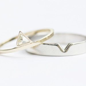 my kind of wedding ringbands non traditional custom wedding and - Simple Wedding Rings For Her