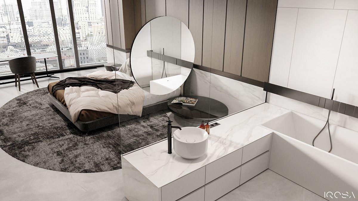 Brutal Apartment On Behance International Interior Design Stylish Apartment Interior Architecture Design