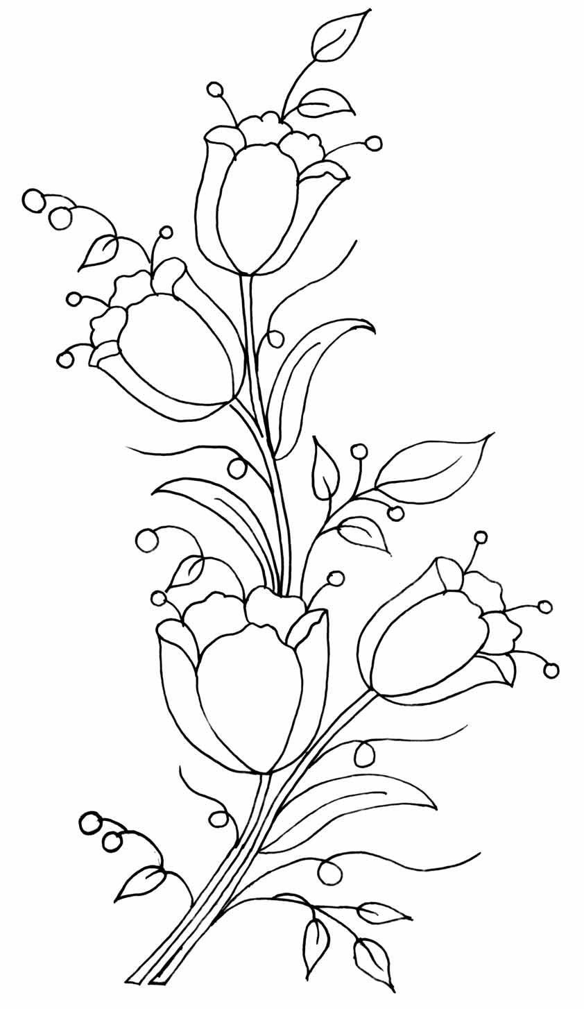 Y a b a n n c r ig pinterest embroidery hand flower line drawing pattern bankloansurffo Images