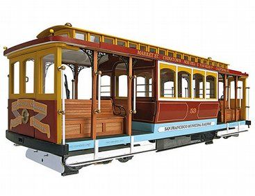 The Artesania Latina California Street Cable Car Wooden Model Kit In 1 22 Scale From The Wooden Heritage Model Kits Range Accurately Recreates T Comboio Escalas