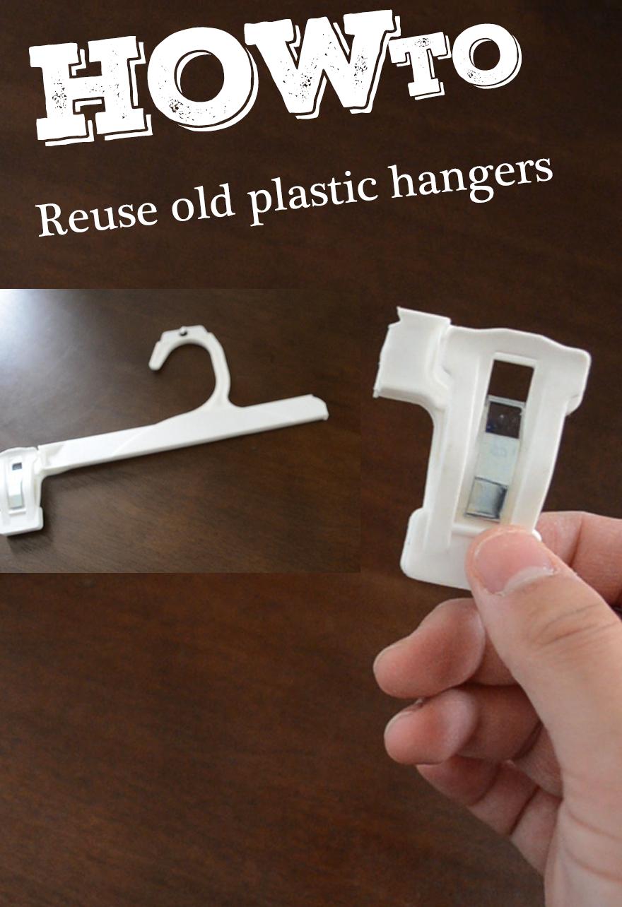 How To Reuse Old Plastic Hangers Turn Old Plastic Hangers