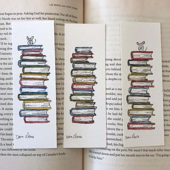 Handmade Watercolor Bookmarks To Buy, To Make, and To Print