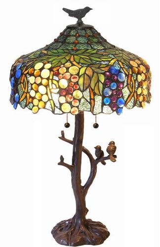Tiffany Tree Trunk Birds on Branch Table Lamp-LAST ONE ...