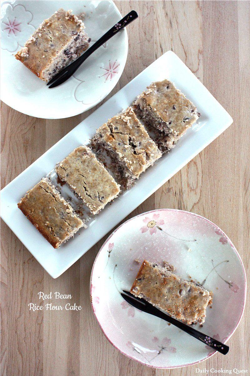 Red Bean Rice Flour Cake | Recipe | Dessert recipes, Desserts