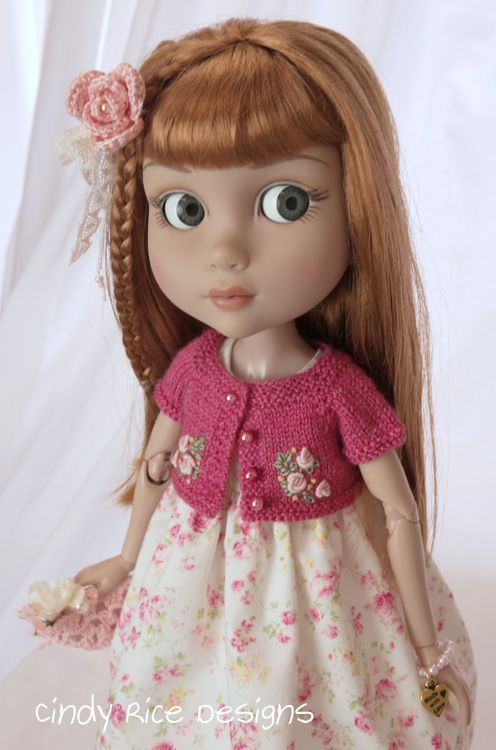 """""""A Stroll in the Garden"""" ensemble made for Wilde Imagination's Patience doll, cindyricedesigns.com"""