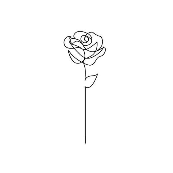 Diytattooimages Line Art Tattoos Diy Tattoo Rose Line Art
