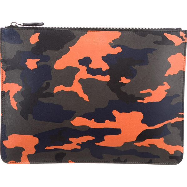 Pre Owned Givenchy Camouflage Leather Clutch Featuring