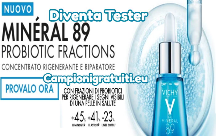 Diventa Tester Mineral 89 Probiotic Fractions con Vichy