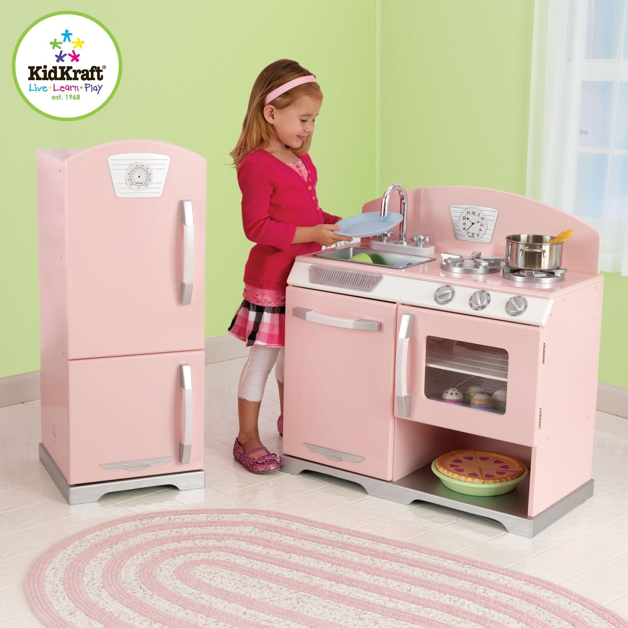 KidKraft Pink Retro Kitchen Refrigerator This Is On My Christmas - Kidkraft pink retro kitchen and refrigerator 53160