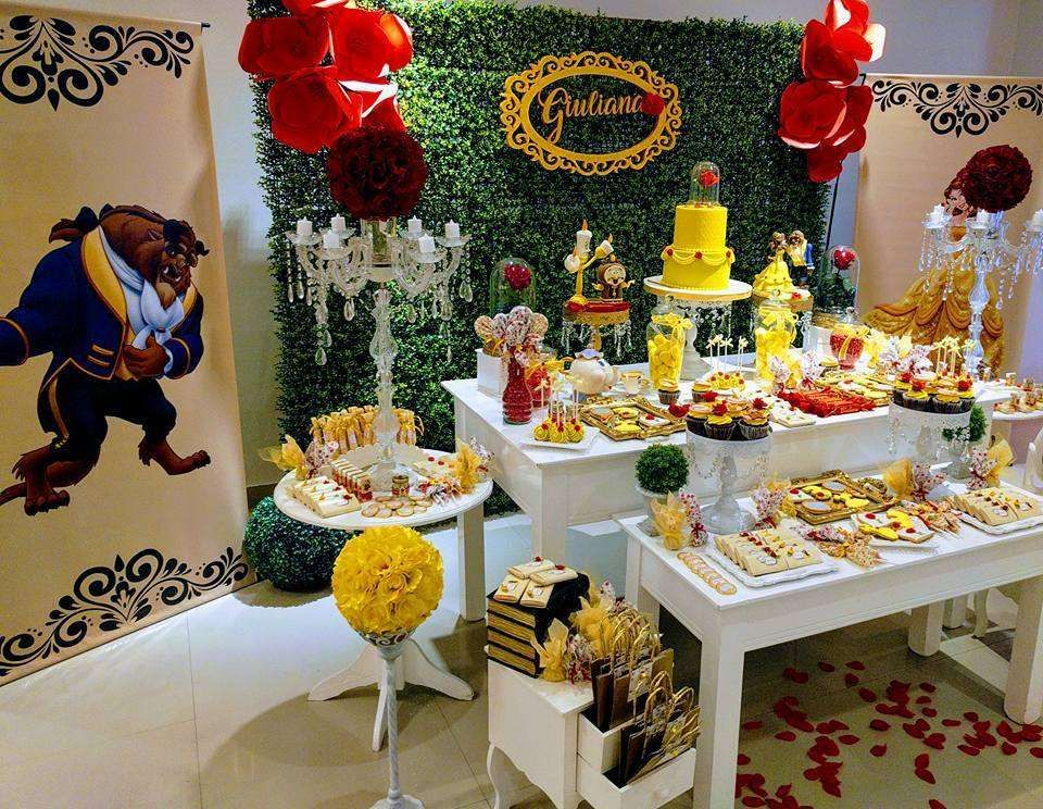 The Beauty And The Beast Birthday Party Ideas With Images