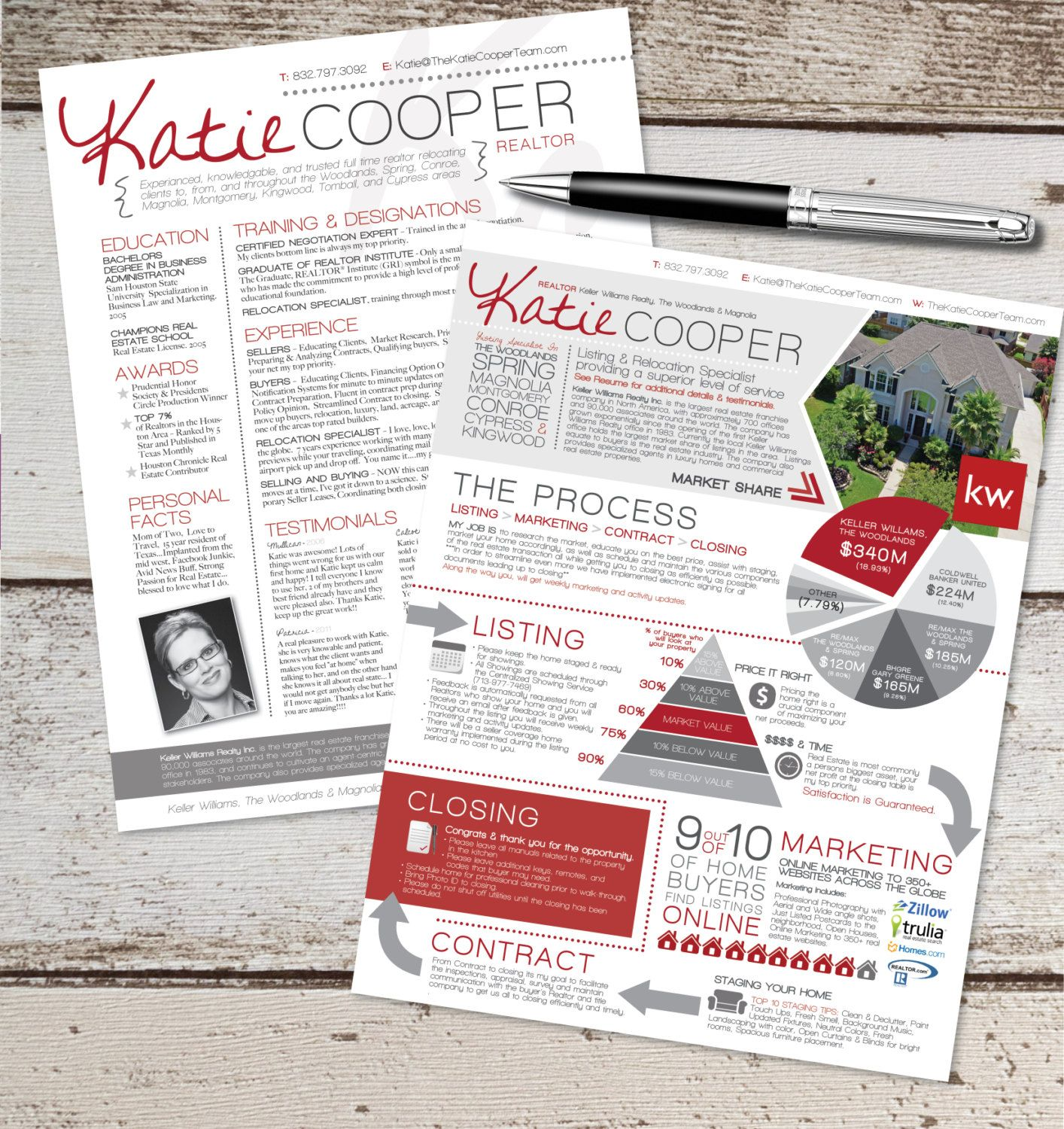the real estate resume  u0026 info graphic template by vivifycreative