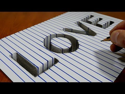 Very Easy How To Drawing 3d Floating Letter A 2