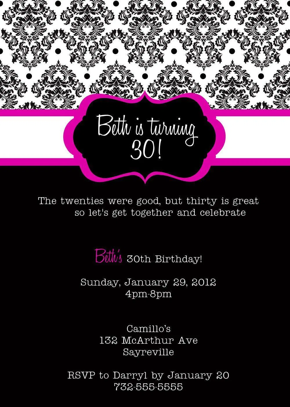 Birthday Invitation 30th Birthday Invitation Templates Superb Invitation Superb Invitation