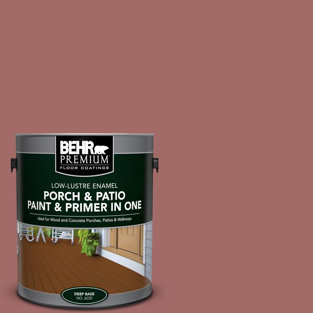 BEHR Premium 1 Gal. #S150 5 Vermilion Low Lustre Interior/Exterior Paint  And Primer In One Porch And Patio Floor Paint 603001   The Home Depot