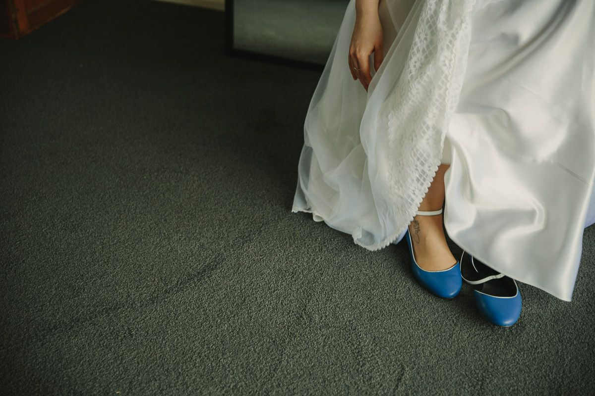Something blue for your wedding? Customize bridal shoes with Shoes of Prey. Photo by Across the Forest Photography.