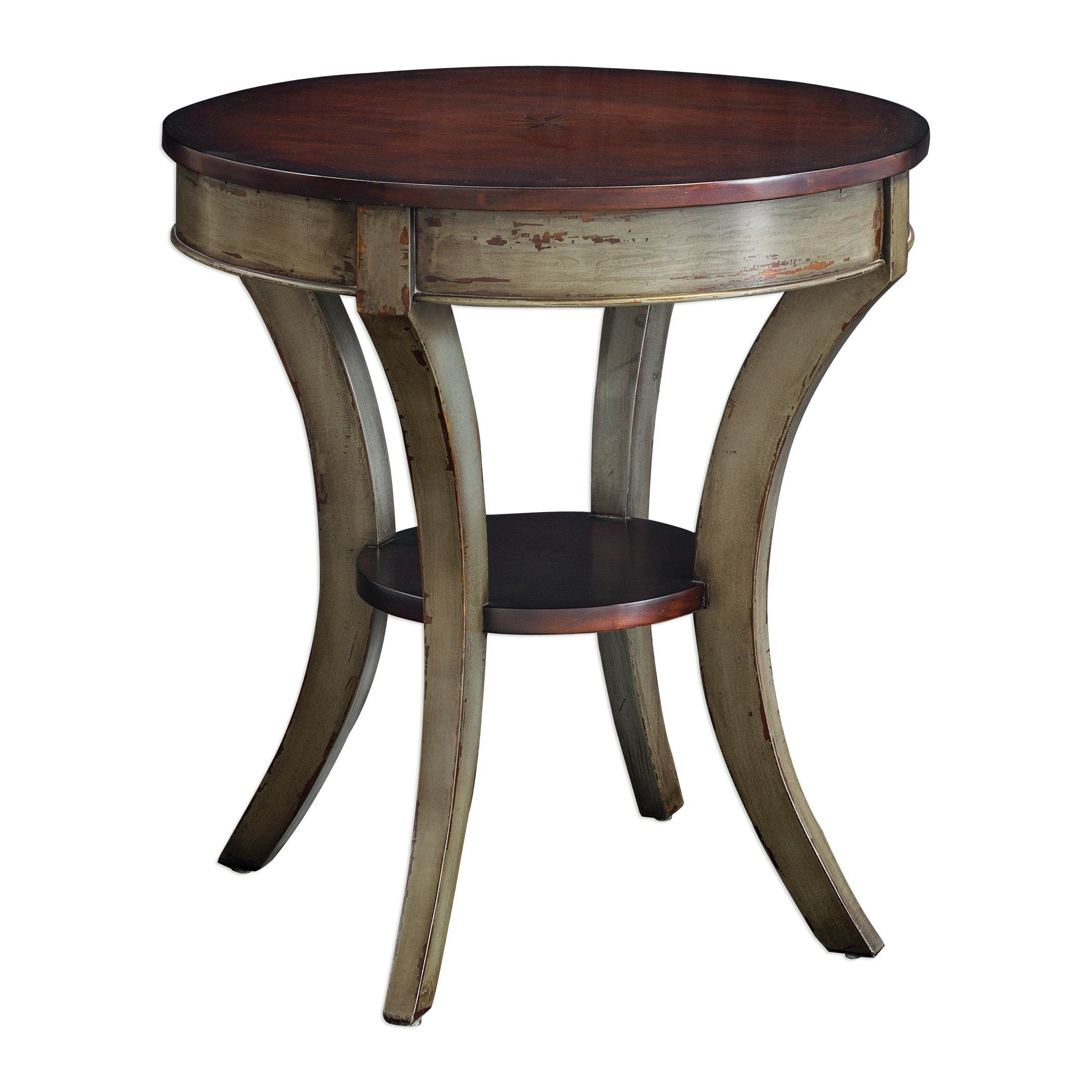 Uttermost Loukas Rich Mahogany And Charcoal Grey Wooden