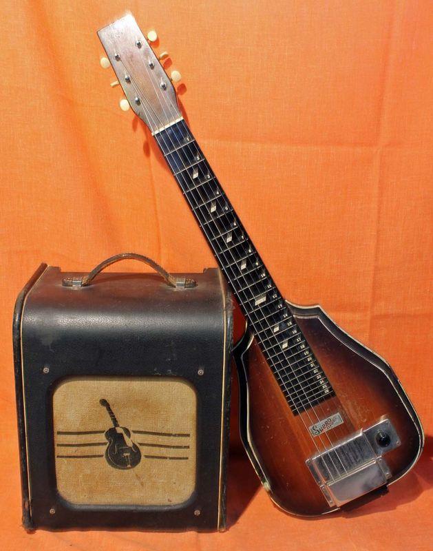 Vintage Supro slide guitar and Harmony tube amp