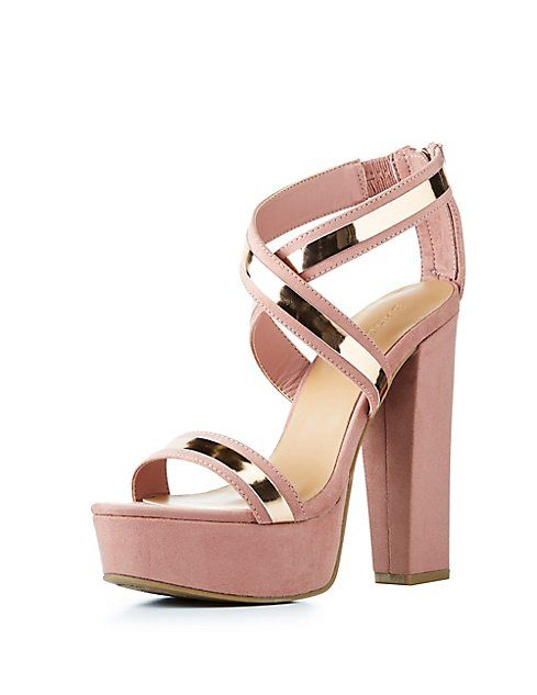 f8f5cd5140 Bamboo Metallic-Trim Platform Sandals | ☆wardrobe☆ | Heels ...