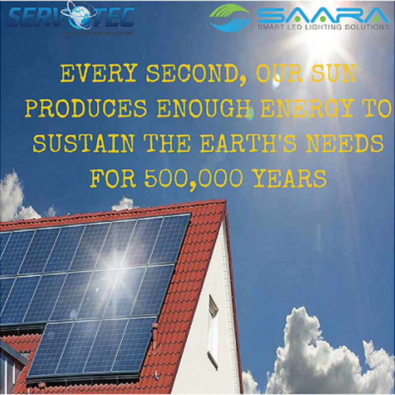 Every Second Our Sun Produces Enough Energy To Sustain Earth S Needs For 500 000 Years Saveenergy Led Lighting Solutions Roof Solar Panel Lighting Solutions