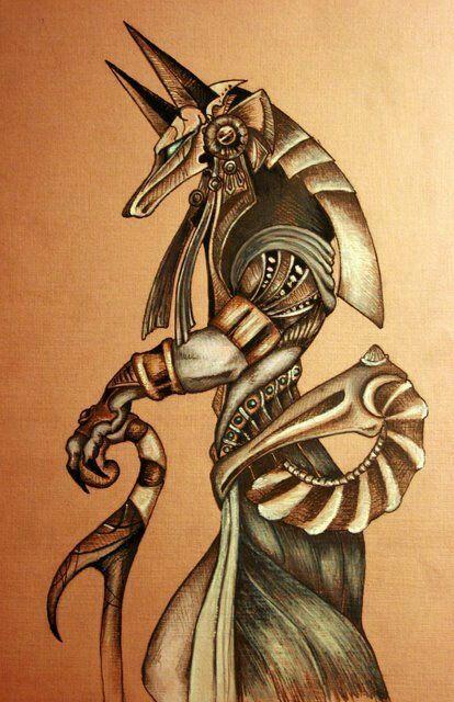 Anubis Dios De La Muerte Art Anubis Tattoo Tattoos Anubis
