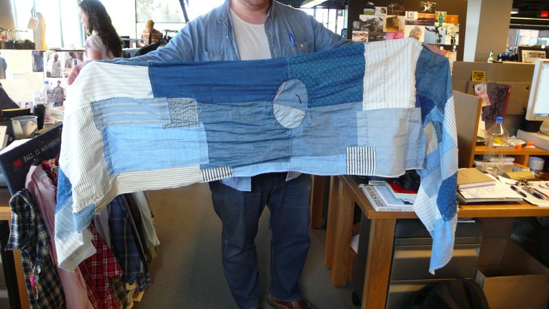 Repurposed, Reused & Recycled_Denim_Distressed & Deconstructed_Scarf from MisterMort
