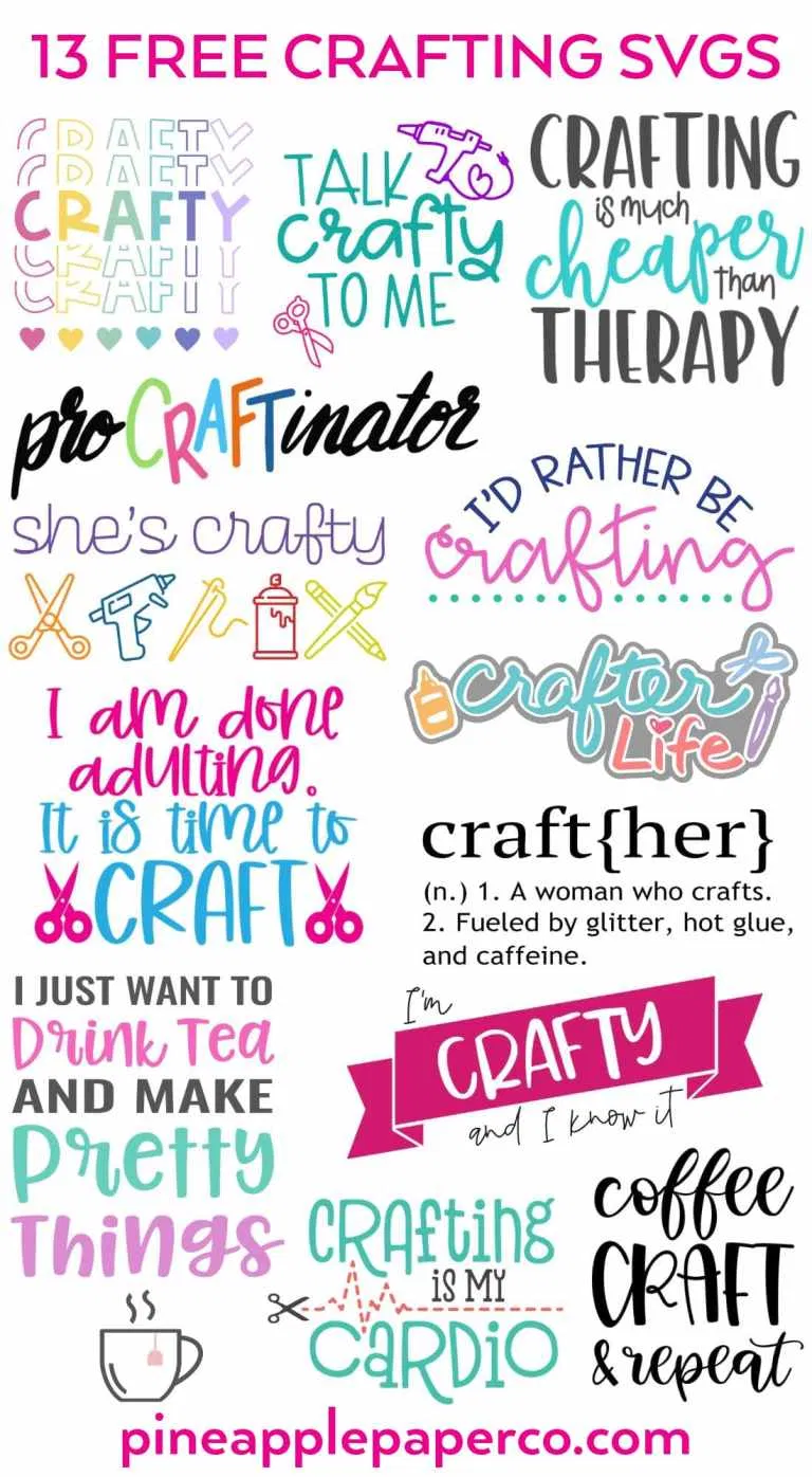 Make your Own Crafting Mug with a Free SVG