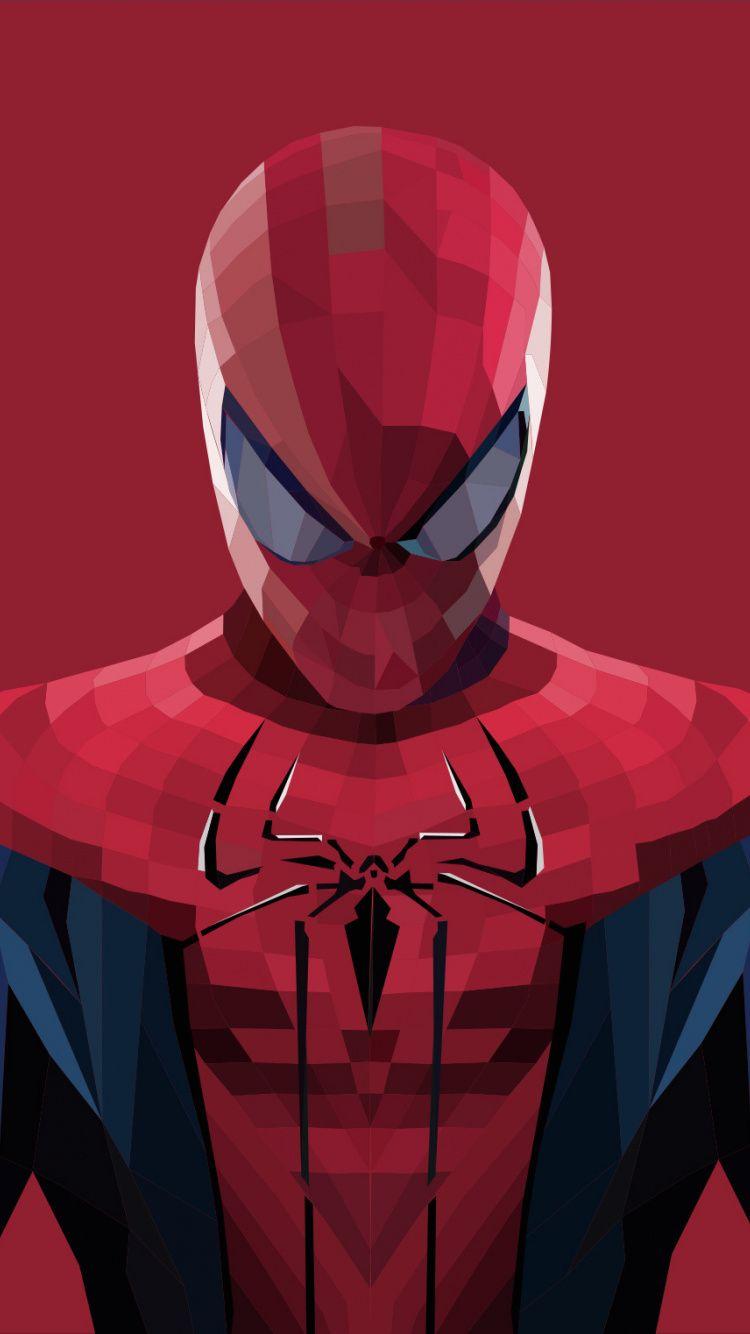 Rajesh 3d Wallpaper Download Spider Man Polygons Art Artworks 750x1334 Wallpaper