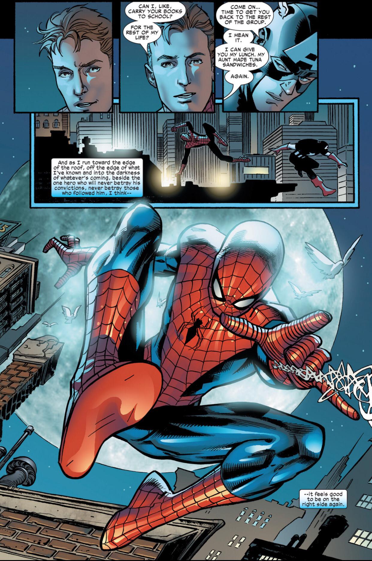 Caps Epic Speech To Spider Man During Civil War